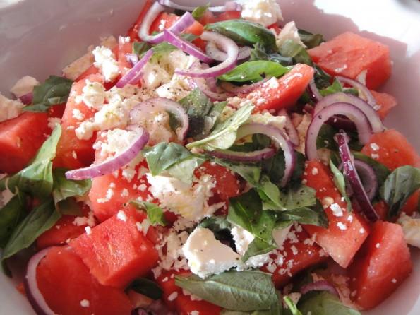 Watermeloen & Feta Salade