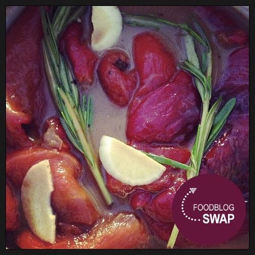 Foodblogswap - Geroosterde en Gemarineerde Paprika's