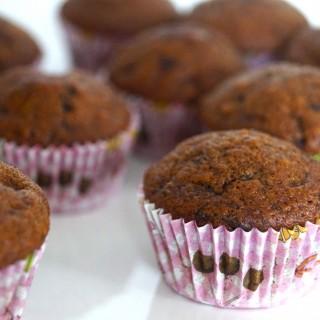 Mini Bananen Koffie Chocolade Muffins