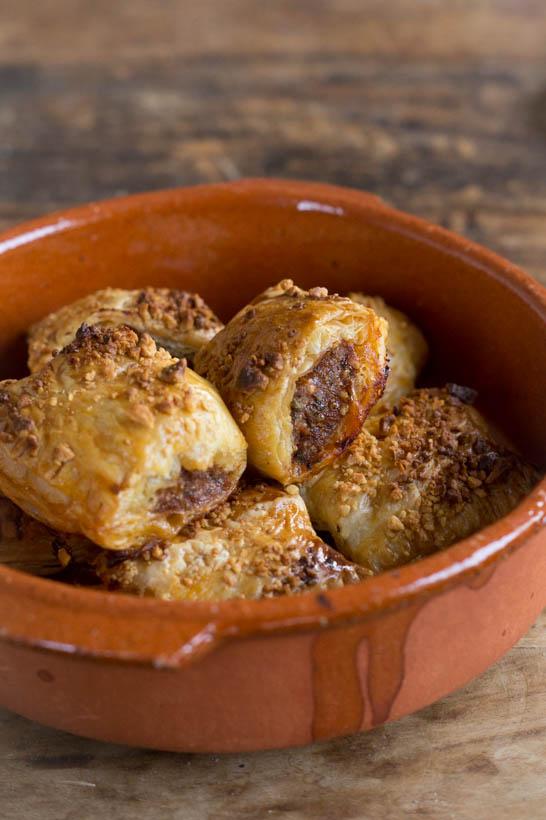 Thaise Saucijzenbroodjes met Pinda's