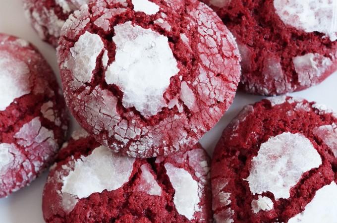 Red Velvet Crinkle Koekjes