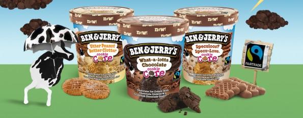 Lancering nieuwe smaken Ben & Jerry's Cookie Core!