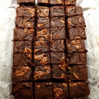 Brownies met Dulce de Leche Vulling