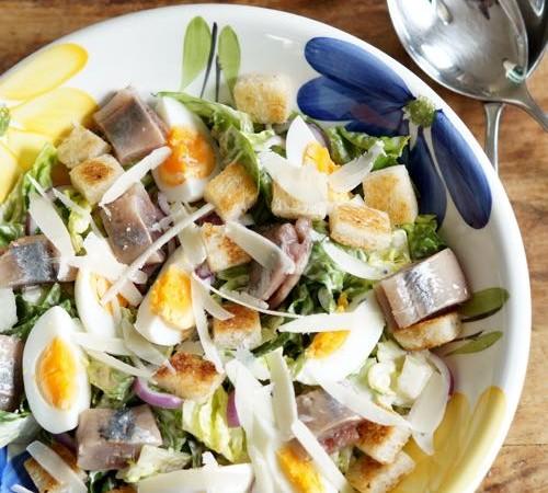 Caesar Salade met Hollandse Nieuwe