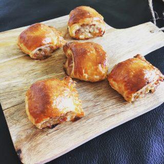 Kip-Bacon Bladerdeeg Hapjes