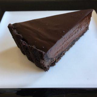 No-Bake Chocolade Taart met Gerookt Zout