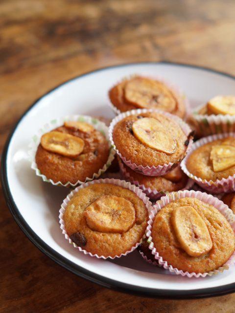 Mini Bananen Chocolate Chip Muffins