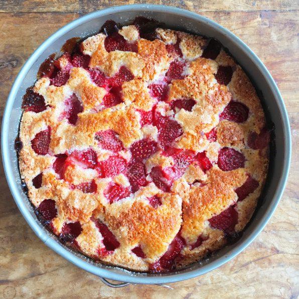 Zomerse Aardbeien Cake