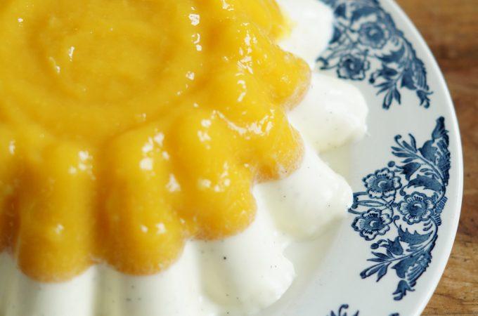 Mango Yoghurt Panna Cotta
